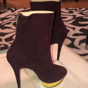 Charlotte Olympia Lucinda suede boots